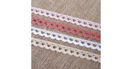 Puntillas y tiras bordadas